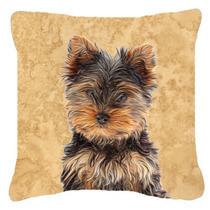 Yorkie / Yorkshire Terrier Tela De Lona Almohada Decorativa