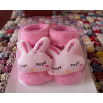 Zapato Zapatito Conejo Para Bebe Niña Modelo Conejito Rosa
