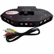 Switch Selector Hasta 3 Puertos Av Rca Video Xbox Juegos