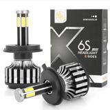 Kit Led X6s 2 Focos 6 Caras Leds H7 H4 9007 9006 Jetta Moto