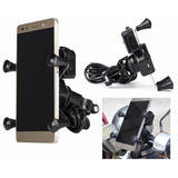 Porta Celular Soporte Base Motocicleta Cargador Usb 2a