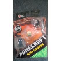 Mini Figuras Minecraft Alex, Calamar Y Oveja Negra! Nuevo