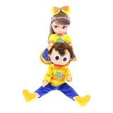 Muñecos Bely Y Beto Articulados + Morral