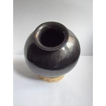Artesanía, Olla Decorativa Tradicional Barro Negro De Oaxaca