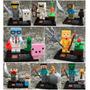 Set Minecraft Zomie Steve Sheleton Cre Compatibles Con Lego