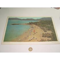Mantel Individual Plastificado De Playa Hornos En Acapulco