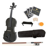 Violin Mendini 3/4 Negro Con Accesorios Envio Gratis