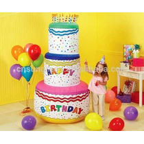 Pastel Cumpleaños Inflable Jumbo Gigante
