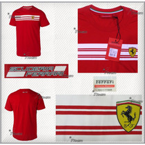 Playera Scuderia Ferrari F1 Autentica Con Holograma Vettel