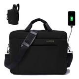 Mochila Portafolio Maletin Backpack Para Laptop De Hasta 16 Pulgadas Con Puerto Usb
