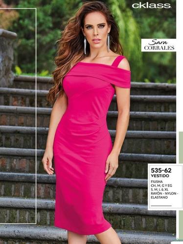 Vestido Casual Para Dama Color Fiusha 535 62 Cklass 1 19 En