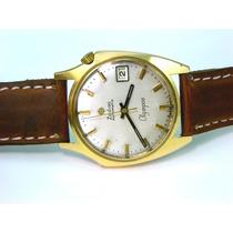 Original Reloj Zodiac Olympos Automático Laminado En Oro 18k