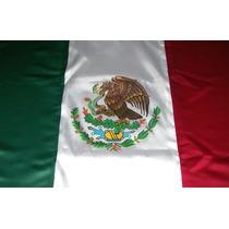 Bandera De México .90 X 1.55 Mts. Estampada