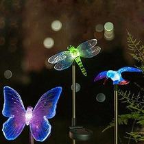 Luces Led Solares De Camino Para Jardin Libelula