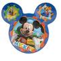 Fiesta Mickey Mouse Plato Melamina Como Recuerdo