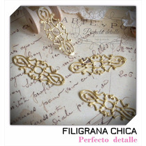 25 Filigranas Finas Chicas Bronce Para Decorar Invitaciones