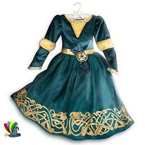 Disfraz Vestido Merida Valiente Original Disney Store 2016