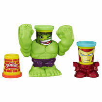 Juego Play-doh Smashdown Hulk Featuring Marvel Can-heads