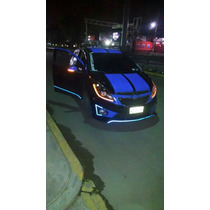 Faro Lupa Angel Eyes Leds Chevrolet Spark Xenon