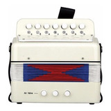 Acordeon Instrumento Musical Infantil  Profesional Blanco
