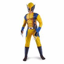 Disfraz Traje Infantil Niños Super Heroe X-men Wolverine