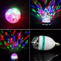 Foco Giratorio Tipo Disco De Led E27 De Colores