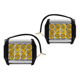 Par Faros 12 Led Aux. Dually C/estrobo Carcasa De Colores