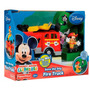 Carro De Bomberos Fisher Price Con Mickey Mouse Bombero Omm