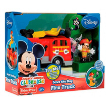 Carro De Bomberos Fisher Price Con Mickey Mouse Bombero Vbf