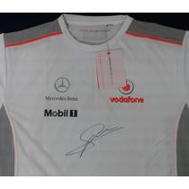 Playera Autografiada Sergio Checo Perez Mclaren Mercedes F1