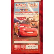 Aa Cars 100 Invitaciones Tipo Ticket Promocion