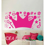 Vinilo Decorativo Infantil Corona Princesa - 150b X 100a