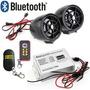 Moto Estereo Bocinas Bluetooth Luz Usb Alarma 2 Controles