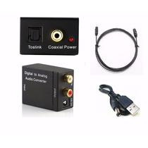 Convertidor Audio Digital Toslink Coaxial A Rca Análogo Usb