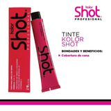 Tinte Kolor Shot Permanente 90gr + Peroxido C/u