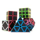 Paquete 5 Cubos Cobra Z Fibra Carbono Pyraminx Megaminx