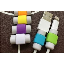 Protector De Cable Lightning Iphone Ipad 10 Colores