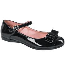 Zapato Escolar Niña Tipo Charol 156982 Ze1
