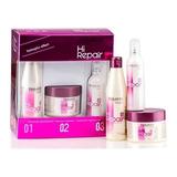Salerm ® Kit Botox Hi Repair Reparado Instantaneo Rejuvenecedor Cabello Shampoo 250ml + Mascarilla 250ml + Finish 100ml