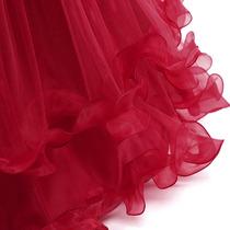 Vestido De Fiesta Para Niña Vestido Niña Color Vino Largo En