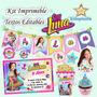 Kit Imprimible Soy Luna + Candy Bar Fiesta Textos Editables