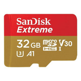 Tarjeta De Memoria Sandisk Sdsqxvf-032g-an6ma Extreme Con Adaptador Sd 32gb