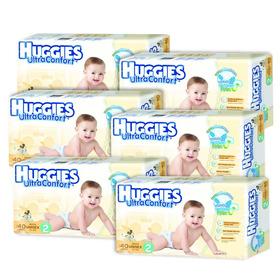Caja De Huggies Ultraconfort E2 6 Paquetes - 240 Pañales