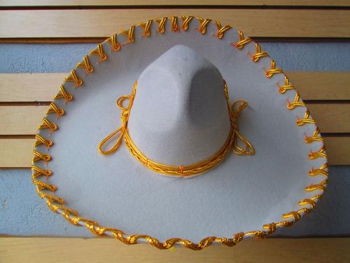 Sombrero Charro Mariachi Plata Oro Jaripeo Adulto Niño Fino. Precio    349  Ver en MercadoLibre 5e72a6d8b2e