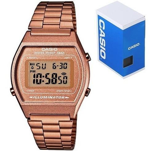 Gratis Casio Envio En Reloj Retro Rosa Oro Vintage B640 b7gyf6
