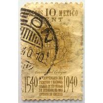 Sello Postal Mexico 1940 Centenario Universidad Michoacana