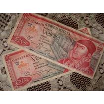 Billetes Antiguos De 20 Pesos De 1976 (morelos)