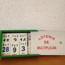 Lotería De Multiplicar Juego Didáctico De Madera