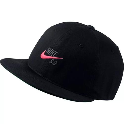 Gorra Nike Sb Pro Vintage Snapback Hombre Hat Negra Original 6a813bc5a60