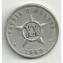 Moneda Cuba 20 Centavos (1969) Omm